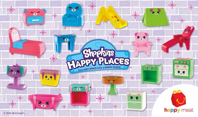 SHOPKINS RARE 9 PATIO TABLE PINK SHOPKIN MCDONALDS HAPPY PLACES MEAL KIDS